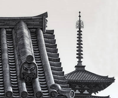 Yakushi-ji Temple Roof Study Art Print by Daniel Hagerman