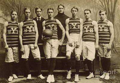 Photograph - Yale Basketball Team, 1901 by Granger