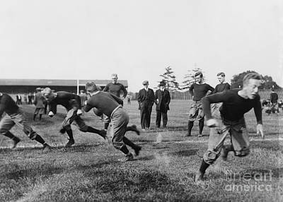 Photograph - Yale: Football Practice by Granger