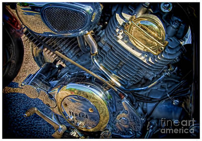 Yamaha Bike Engine  Art Print by Alexandra Jordankova