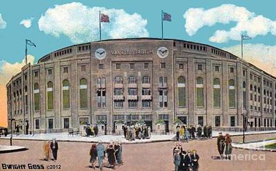 Yankee Stadium C.1930 Art Print by Dwight Goss
