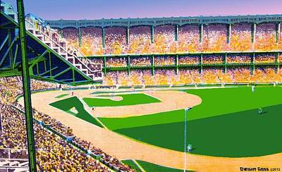 Yankee Stadium Painting - Yankee Stadium In New York City Around 1950 by Dwight Goss