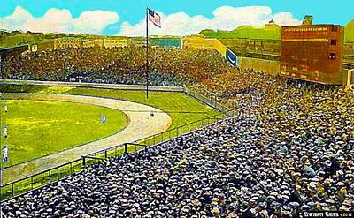 Yankee Stadium Painting - Yankee Stadium In New York City In 1908 by Dwight Goss
