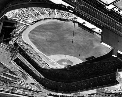 Yankee Stadium On Labor Day. 20,000 Art Print by Everett