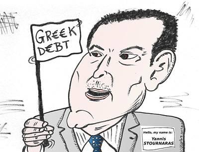 Finance Mixed Media - Yannis Stournaras Editorial Cartoon by OptionsClick BlogArt