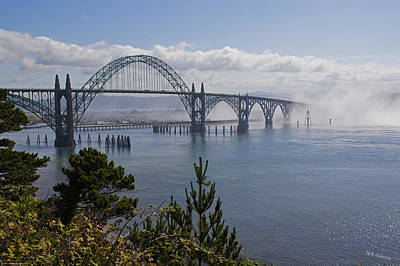 Art Print featuring the photograph Yaquina Bay Bridge by Mick Anderson