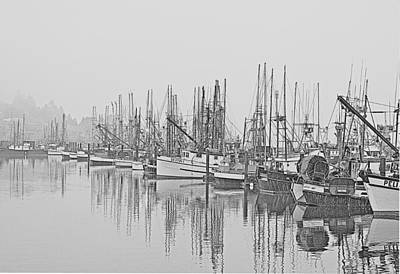 Yaquina Bay Harbor   Newport Oregon Art Print