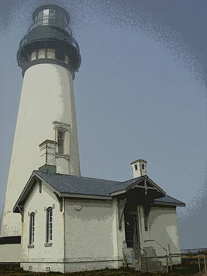 Digital Art - Yaquina Head Lighthouse Newport Oregon by Glenna McRae