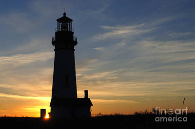 Yaquina Lighthouse Art Print by Bob Christopher