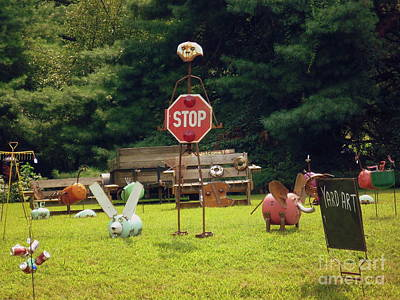 Art Print featuring the photograph Yard Art Stop by Renee Trenholm