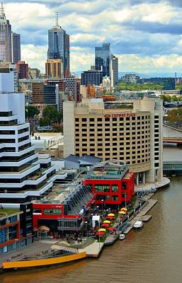 Photograph - Yarra River City Block Of Primary Colors by Kelly Nicodemus-Miller