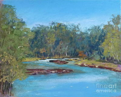 Yarra River Warrandyte Art Print by Nadine Kelly