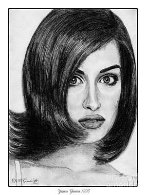 Canadian Sports Drawing - Yasmeen Ghauri In 1995 by J McCombie