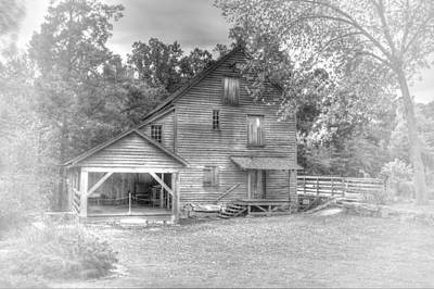 Yates Mill Black And White Art Print by Joe Granita