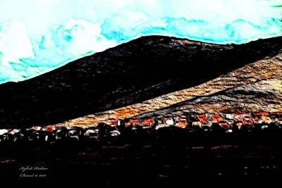 Ye Mountains Of Gilboa  Art Print by Itzhak Richter