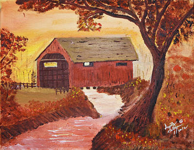 Painting - Ye Ole Covered Bridge by Swabby Soileau