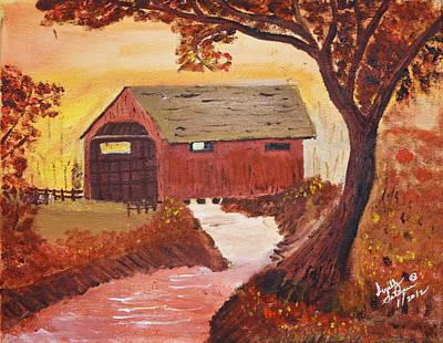 Painting - Ye Ole Covered Bridge by Swabby Soileau