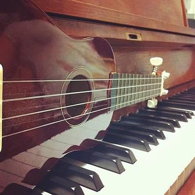Piano Wall Art - Photograph - Yeah, I Can Be Artistic. #ukulele by 🍓sivi Christa