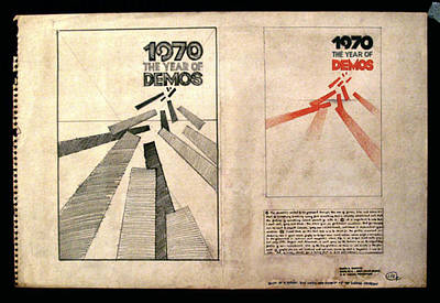 Drawing - Year Of Demos 1970 by Glenn Bautista