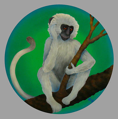 Year Of The Monkey Painting - Year Of The Monkey by Marcia  Perry
