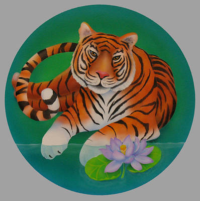 Year Of The Tiger Art Print by Marcia  Perry