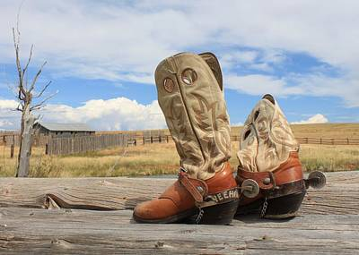 Photograph - Yeeha Boots by Debra Mickelson