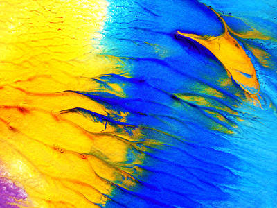 Painting - Yello And Blue Water Color Art by Sumit Mehndiratta
