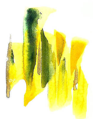 Drawing - Yellow Abstract by Darlene Flood