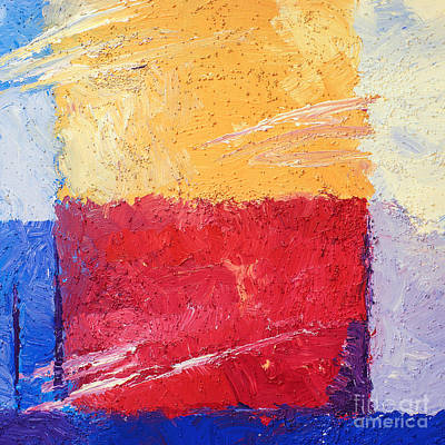 Red Abstract Painting - Yellow And Red by Lutz Baar