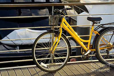 Yellow Bicycle Print by Carlos Caetano