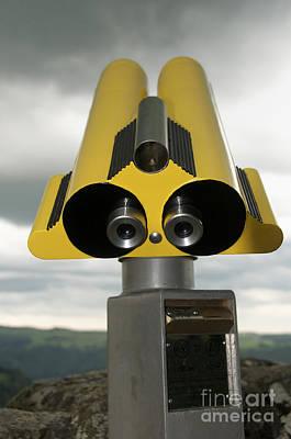Yellow Binoculars Art Print by Bernard Jaubert