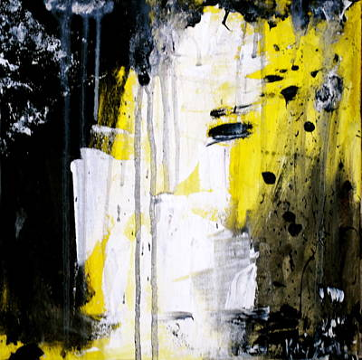 Yellow-black Art Print by Kelly S