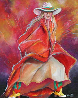 Yellow Boots Art Print by Donna Weil