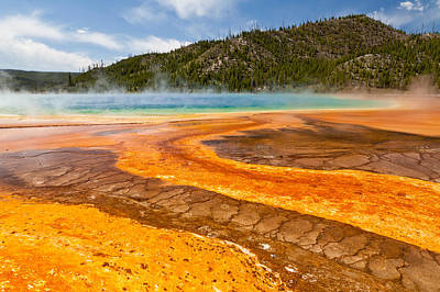 Photograph - Yellow Brick Road - Grand Prismatic Spring by Adam Pender