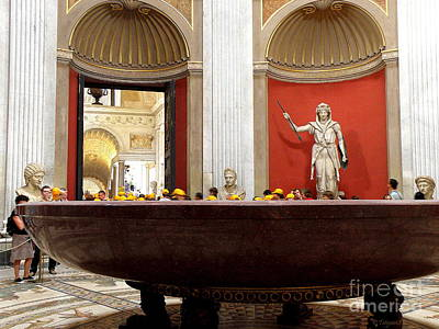 Art Print featuring the photograph Yellow Caps In Vatican by Tanya  Searcy