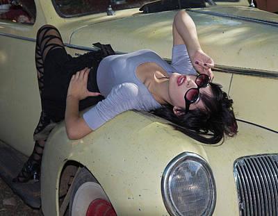 Photograph - Yellow Car by Joel Gilgoff