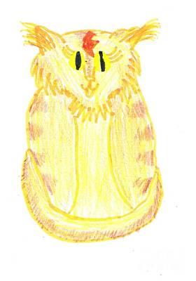 Yellow Cat Art Print by Jeannie Atwater Jordan Allen