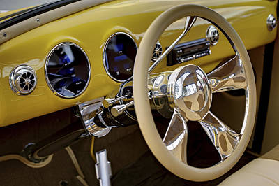 Photograph - Yellow Chevy Dashboard. Miami by Juan Carlos Ferro Duque