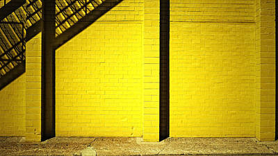 Photograph - Yellow City Scene by Tom Bush IV