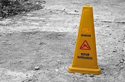 Yellow Cone. Art Print by Fernando Barozza