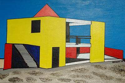 Painting - Yellow Contemporary-miami Beach by Robert Handler