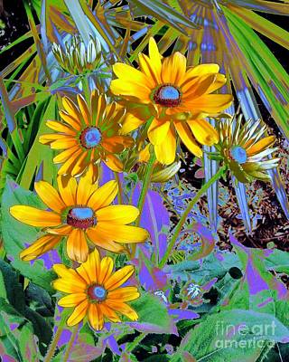 Yellow Daisies Art Print by Doris Wood