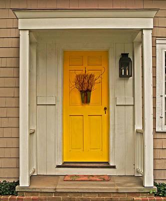 Yellow Door Photograph - Yellow Door by Brian Mollenkopf