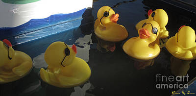 Photograph - Yellow Rubber Duckies  by Donna Brown