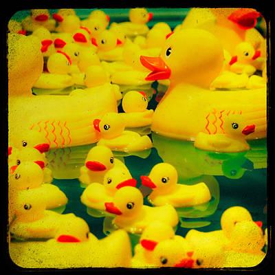 Yellow Ducky Game Art Print by Sonja Quintero