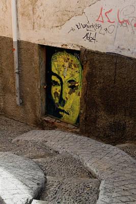 Photograph - Yellow Face Graffiti by Lorraine Devon Wilke