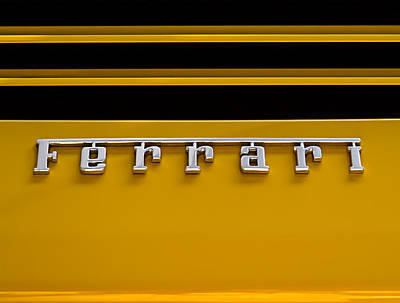 Sportscar Digital Art - Yellow Ferrari Brightwork by Douglas Pittman