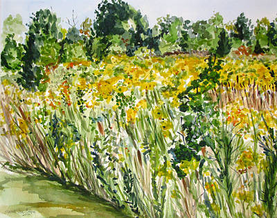 Painting - Yellow Field by Clara Sue Beym