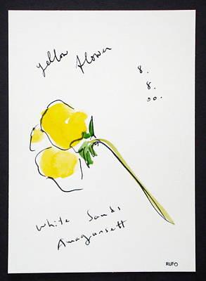 Amagansett Painting - Yellow Flower Amagansett by David Rufo