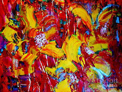Painting - Yellow Flowers by Leela Arnet